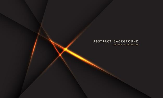 Línea de luz dorada abstracta sobre fondo gris oscuro
