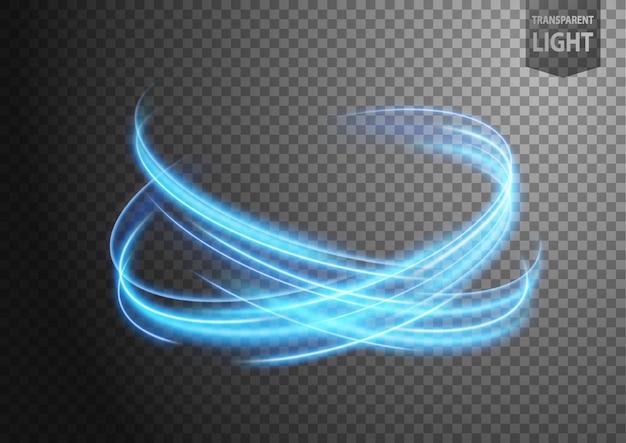 Línea de luz ondulada azul abstracta