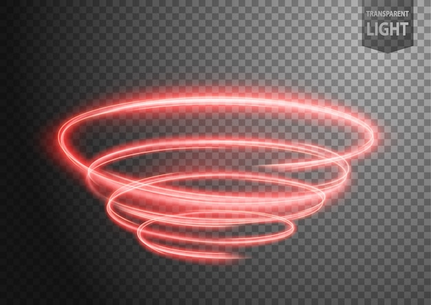 Línea de luz ondulada roja abstracta