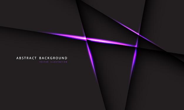 Línea de luz púrpura abstracta sobre fondo gris oscuro