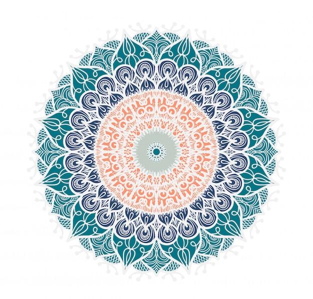 Línea de mandala colorido