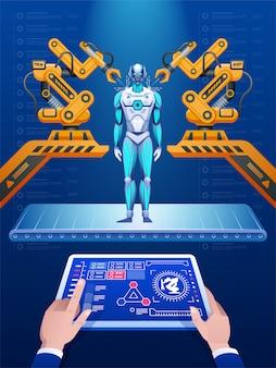 Línea de montaje de robots