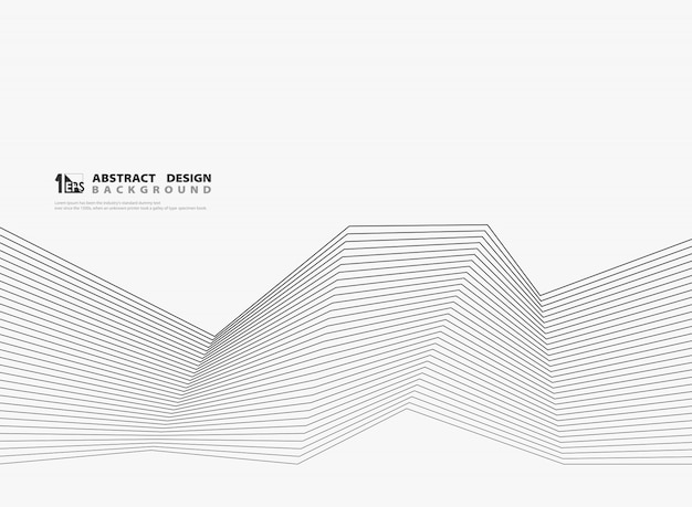 Línea negra moderna abstracta sobre fondo blanco.