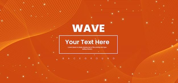 Línea de onda abstracta de colores de fondo