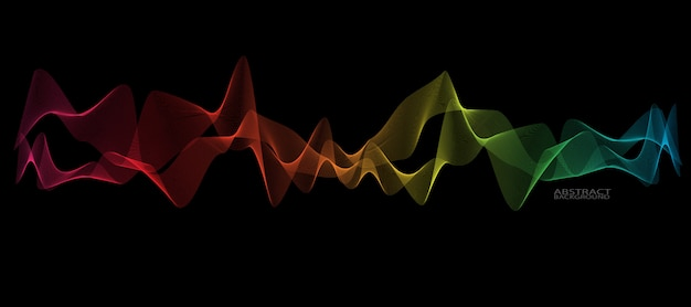 Línea de onda suave abstracta