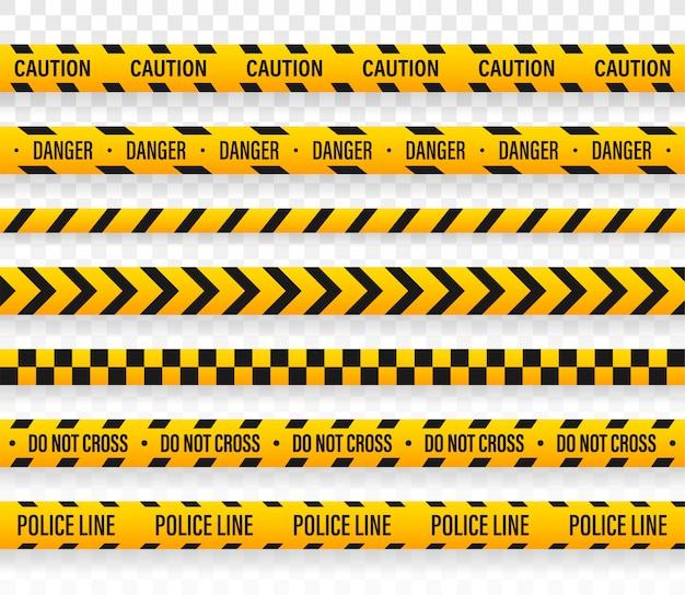 La línea de policía del vector no cruza el diseño de la cinta