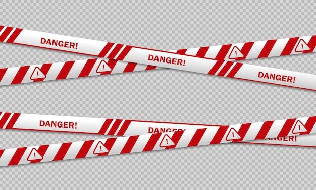 Línea de precaución y peligro negro y amarillo, cintas policiales de advertencia, línea de señal de atención