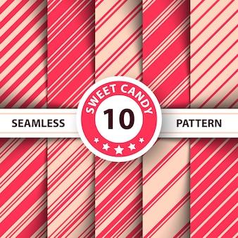 Línea de rayas dulce patrón de feliz navidad.