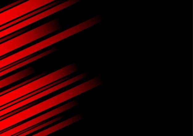 Línea roja abstracta y fondo negro para tarjeta de visita