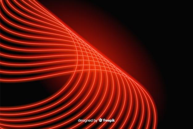 Línea roja curvada con fondo de luces