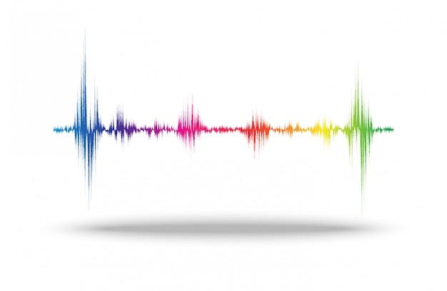 Línea de sonido de onda abstracto