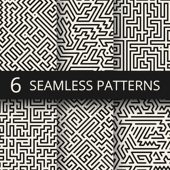 Línea techno gráfica de texturas sin costuras. rayas modernas fondos de diseño de moda