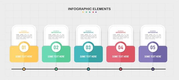 Línea de tiempo colorida infografía.