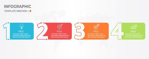 Línea de tiempo infografía 4 opciones.