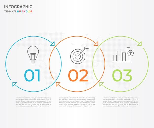 Línea de tiempo infográfico diseño de línea delgada