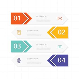 Línea de tiempo moderna de infografía.