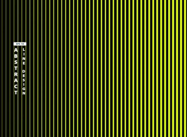 Línea verde viva de moda abstracta en fondo negro.