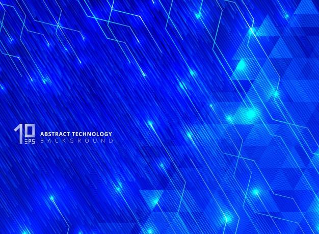 Líneas abstractas de tecnología
