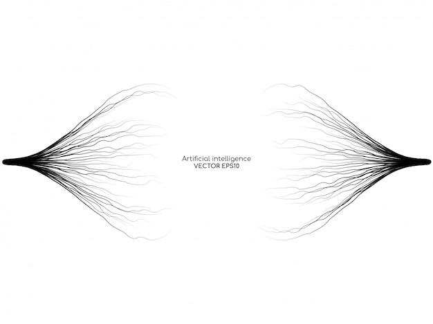 Líneas abstractas del rayo aisladas sobre fondo blanco