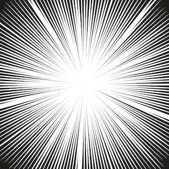 Líneas de acción de cómics. líneas de velocidad mangframe