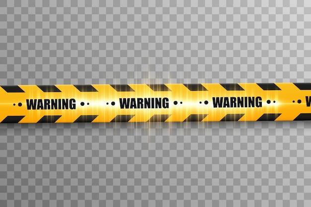 Líneas aisladas. cintas de advertencia. precaución. señales de peligro.