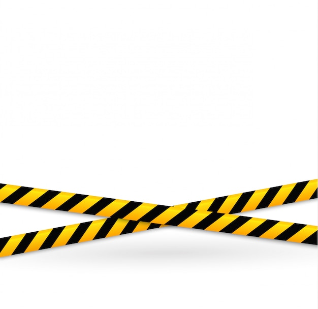 Lineas de aislamiento. cintas de advertencia realistas. señales de peligro.