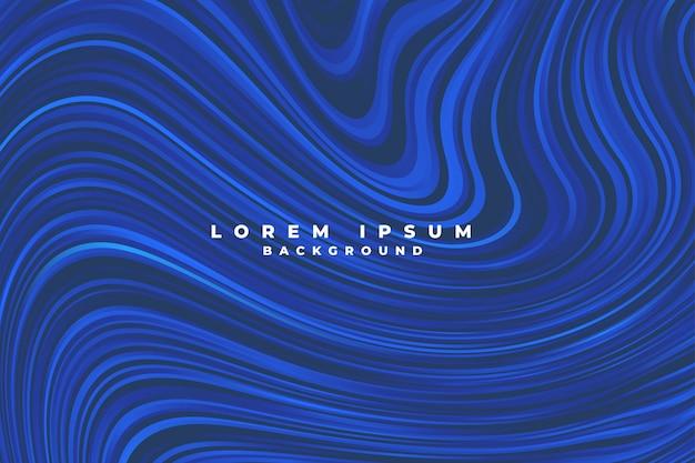 Líneas azules abstractas estilo líquido remolino de fondo