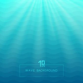 Líneas azules abstractas líneas de fondo bajo el agua