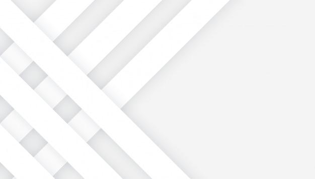 Líneas blancas de estilo 3d en diseño de fondo gris