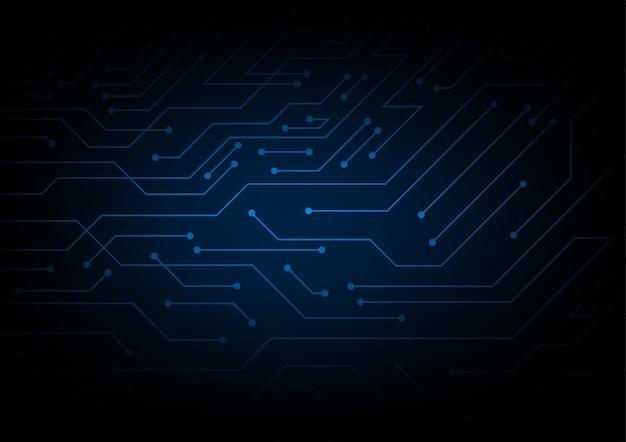 Líneas de circuito abstracto sobre fondo oscuro