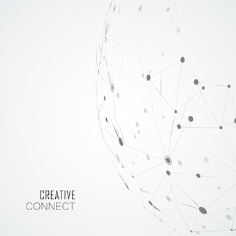 Líneas compuestas y puntos, ciencia conectada.