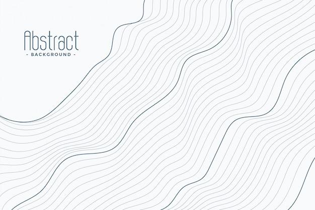 Líneas de contorno abstractas sobre fondo blanco