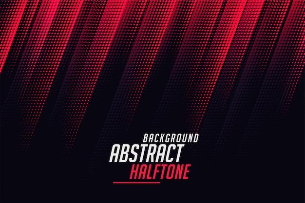 Líneas diagonales de medios tonos abstractos en color rojo y negro