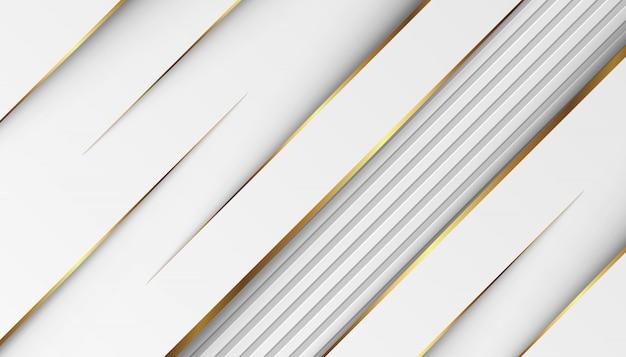 Líneas doradas de lujo con gris blanco
