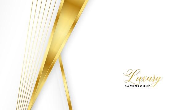 Líneas doradas premium y diseño de fondo blanco.