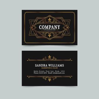 Líneas elegantes plantilla de tarjeta de visita elegante