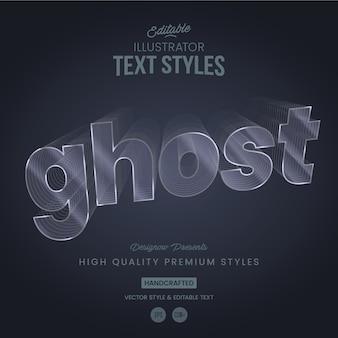 Líneas fantasmales de estilo tex