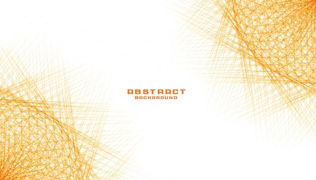 Líneas fractales naranjas abstractas diseño de fondo de malla