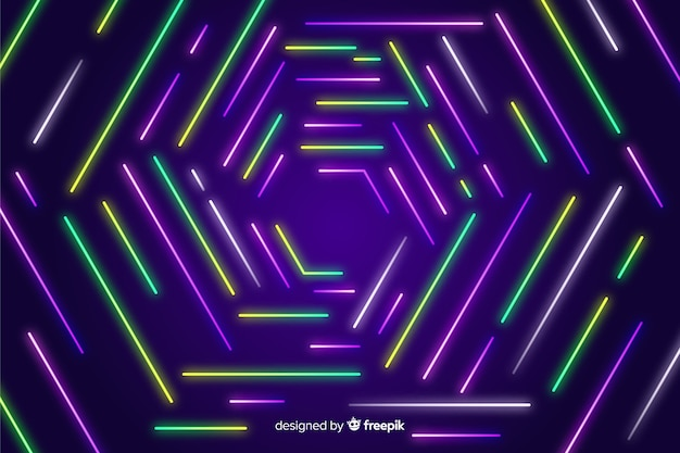 Líneas geométricas coloridas resumen de antecedentes