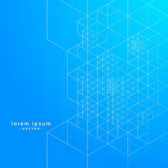 Líneas geométricas de fondo azul de vectores de impresión