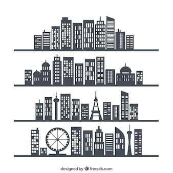Líneas de horizonte de ciudad