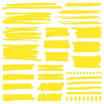 Líneas de marcador de resaltado de colores