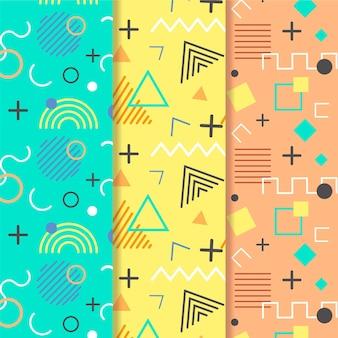 Líneas de memphis de patrones sin fisuras