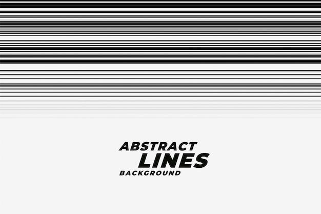 Líneas de movimiento de velocidad abstracta en fondo blanco y negro