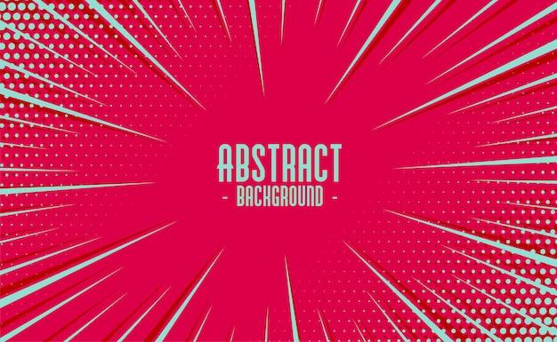 Líneas de movimiento de zoom cómico abstracto con fondo de semitono