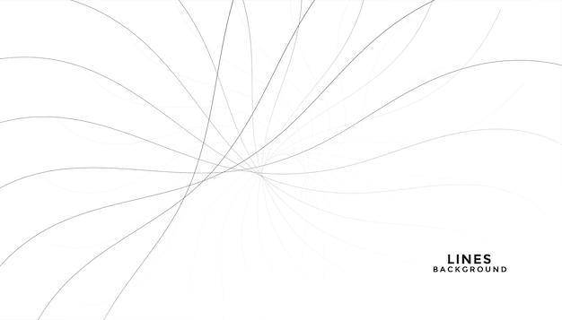 Líneas negras que fluyen abstractas sobre fondo blanco