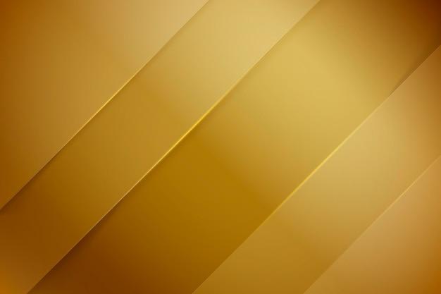 Líneas oblicuas de oro de fondo de lujo