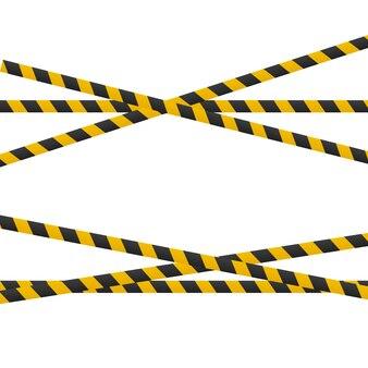 Líneas de precaución aisladas en blanco