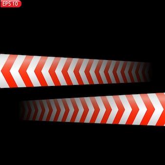 Líneas de precaución negras y de color aisladas cintas de advertencia realistas peligro