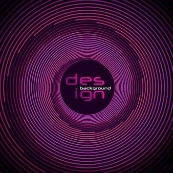Líneas y puntos dinámicos para música de fondo. diseño de red con partículas. curva de onda de sonido radial con partículas de luz. estilo de tecnología 3d.